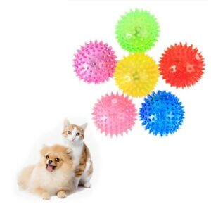 1pc Pet Chew Toy Colorful Soft Rubber Luminous Cat Dog Chewing Throwing