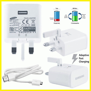 Genuine Samsung EP-TA20UWE Adaptive Fast Charger & USB Cable For Galaxy Phones