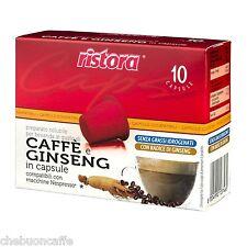 60 CAPSULE CIALDE CAFFE' GINSENG RISTORA COMPATIBILI NESPRESSO DE LONGHI KRUPS