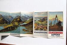 23230 viaje folleto Stanserhorn Lucerna ferrocarril Railway para 1925 decorativa