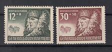Generalgouvernement Briefmarken 1940 Winterhilfe  Mi.Nr.59+61 ungestempelt