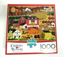"""Charles Wysocki """"BUTTERNUT FARMS"""" 1000 pc. puzzle with poster included"""