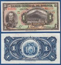 BOLIVIEN / BOLIVIA  1 Boliviano L.1928 aUNC  P. 118
