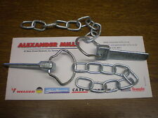 Tractor Cotter Pin And Chain Spring Loaded 2pk Trailer Lorry Caravan Farm Agri