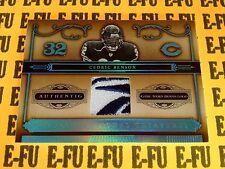 2006 National Treasures CEDRIC BENSON Reebook Game Logo Patch Jersey #ed 05/10