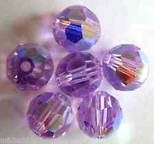 3 6 mm Swarovski 5000 Crystal Rounds -- Violet AB