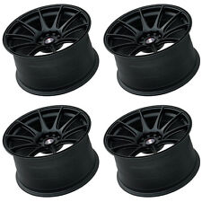 "XXR 527 17"" x 7.5J ET40 5x100 5x114.3 FLAT BLACK RIMS ALLOYS WHEELS LIGHT Z3461"