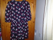 Navy blue, magenta and ivory floral skater style dress, ATMOSPHERE, size 12, NEW