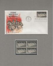 1970 Stone Mountain Confederate Memorial First Day Cover & Stamps Custom Set