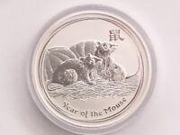 Australia Perth Mint 2008 5 Oz .999 Silver Lunar Mouse Coin Series II Very Rare
