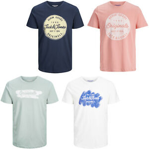 Jack & Jones Originals T-Shirt Crew Neck S/S Chest Logo Print Mens Tee