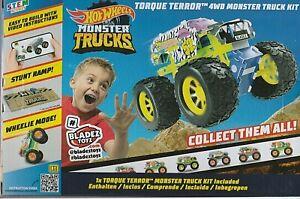 Hot Wheels Monster Trucks 4 x 4 Maker Kitz Bladez Racing Torque Terror