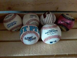 6 Miscellaneous Used Baseballs