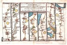 Antique map, The Road from Welshpool to Carnarvan plate 087