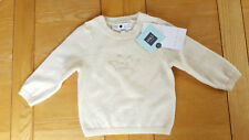 Marks & Spencer Marie Chantal Cream 100% Cashmere Jumper (Age 3-6 Months)