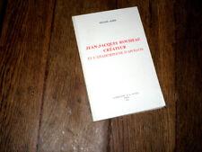 Jean-Jacques Rousseau créateur et l'anamorphose d'Apollon 1980 W. Acher
