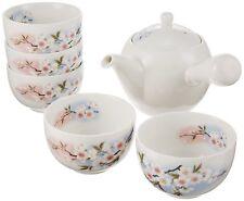 Japanese  tea set  YUNOMI cup×5 and KYUSU tea pot   MINO YAKI made in Japan GIFU