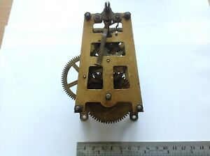 ANTIQUE DIAL CLOCK MOVEMENT A FRAME TO RESTORE OR SPARE PARTS UNTESTED