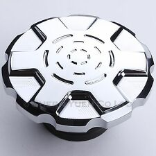 Chrome Gas Cap Fuel Tank Cover Vented for Harley Touring Dyna Sportster Softail