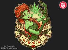 POISON IVY Batman Harley Quinn FROZEN Cannabis LET IT GROW Weed TEEVILLAIN SHIRT