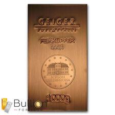1kg Copper Mint Bullion Bar .9999
