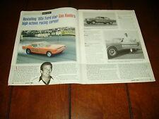 GAS RHONDA FORD - MUSTANG RACE CARS ***ORIGINAL 1998 ARTICLE***