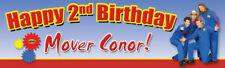 """Imagination Movers - 18""""x60"""" Birthday Banner customize add child's name and age"""