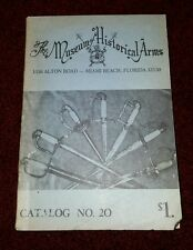 The Museum of Historical Arms Catalog No 20
