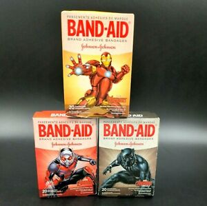 Band Aid Marvel Avengers Adhesive Bandages Mixed Lot  - Total of 3 Boxes