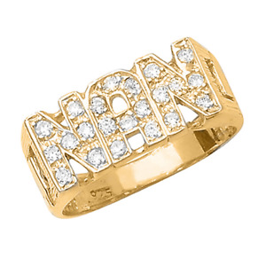 NAN ring Sterling Silver | Gold plated 925 G7408 jewellery company
