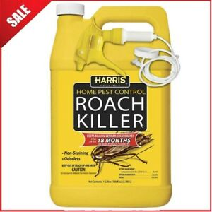 Pest Control Roach Killer Spray 1 Gal. Odorless Non-Staining For Indoor Outdoor