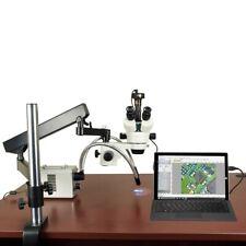 2.1X-225X 5Mp Digital Zoom Articulating Microscope 30W Led Fiber O-Y Lights