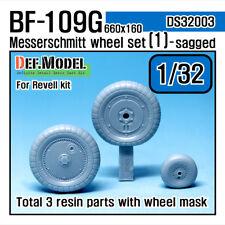 DEF.MODEL, DS32003, Messerschmitt Bf109G Wheel set 1 (for Revell),1:32