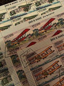 UAE / Umm Al Qiwain - Stamps lot / Aviation Aircraft Full Sheets CTO (18/22)
