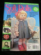 SOFT DOLLS & ANIMALS~May 2003 cloth doll patterns~techniques~tips magazine