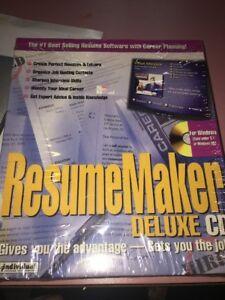 Resume Maker DELUXE EDITION. [CD] Brand New Sealed!
