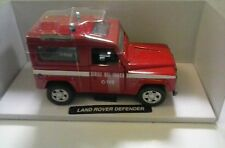 NEW RAY 1:32 AUTO DIE CAST LAND ROVER DEFENDER VIGILI DEL FUOCO ART 55193