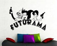 Futurama Wall Sticker Bender Leela Fry Vinyl Decal Movie Art Bedroom Decor 2qsz