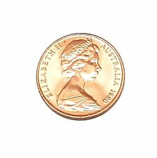 1980 Australian 2 Cent Piece Coin Uncirculated from MINT Roll