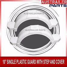 """2 X  10"""" WHITE SINGLE PLASTIC GUARD WITH STEPS AND COVER"""