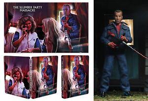 Slumber Party Massacre Bluray Steelbook+NECA Figure+Lithograph! Scream Factory!