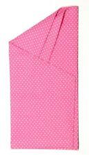 POCKET SQUARE Pink polka dot Dbl Fold Angled Point  - Pre-folded & Sewn