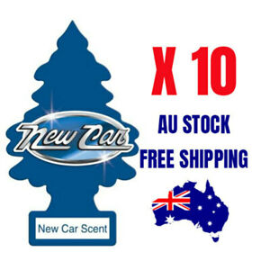 Little Trees Air Freshener NEW CAR SCENT 10 X PACK Uber Taxi Truck Car Office