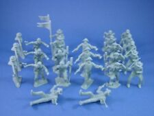 MARX Alamo Playset Toy Soldiers 45mm Frontiersman Cavalry 25 Gray FREE SHIP