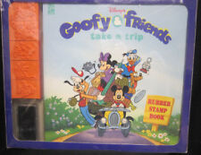 Goofy & Friends Take A Trip Rubber Stamp Book Mickey Mouse Donald Duck Pluto