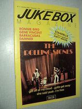 JUKEBOX MAGAZINE 001 (10/84) THE ROLLING STONES RONNIE BIRD DAMNED BARRACUDAS