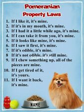 Pomeranian Property Laws Magnet Personalized With Your Dog's Name