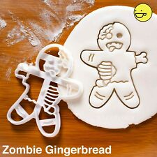 Zombie Gingerbread Man cookie cutter | Halloween Party spooky macabre biscuit