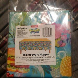 Spongebob Squarepants Tablecover Tablecloth 54x96 DesignWare Birthday Party
