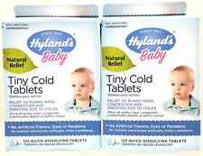 (2) Hyland's Baby Homeopathic Tiny Cold Tablets 125 Tablets Total New & Sealed